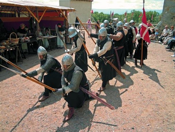 военно-исторические шоу в замках Луары