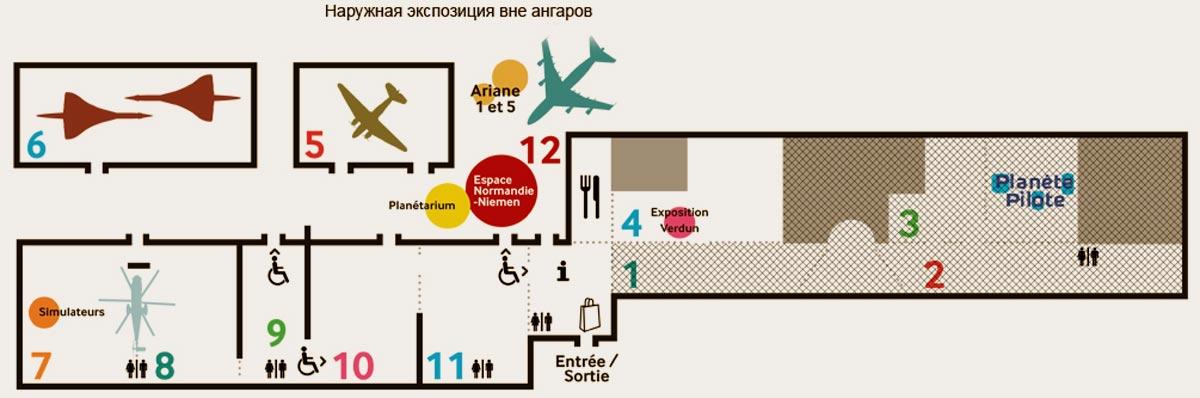 музей авиации и космонавтики план