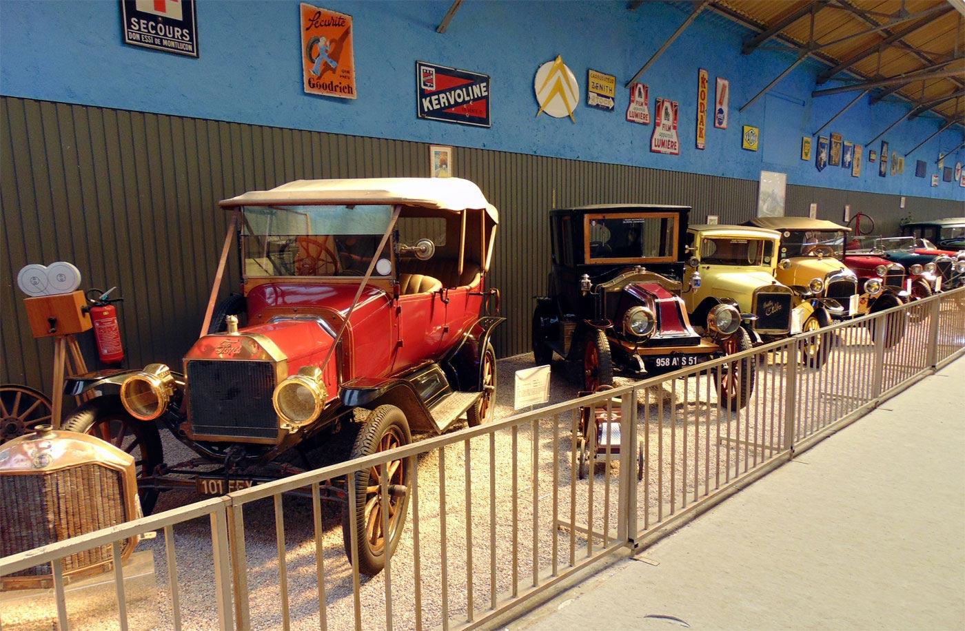 ретро автомобили музея в Реймсе