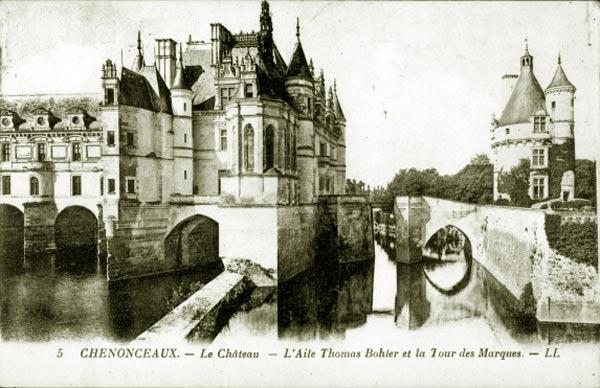 Вид замка Шенонсо в начале 20 века