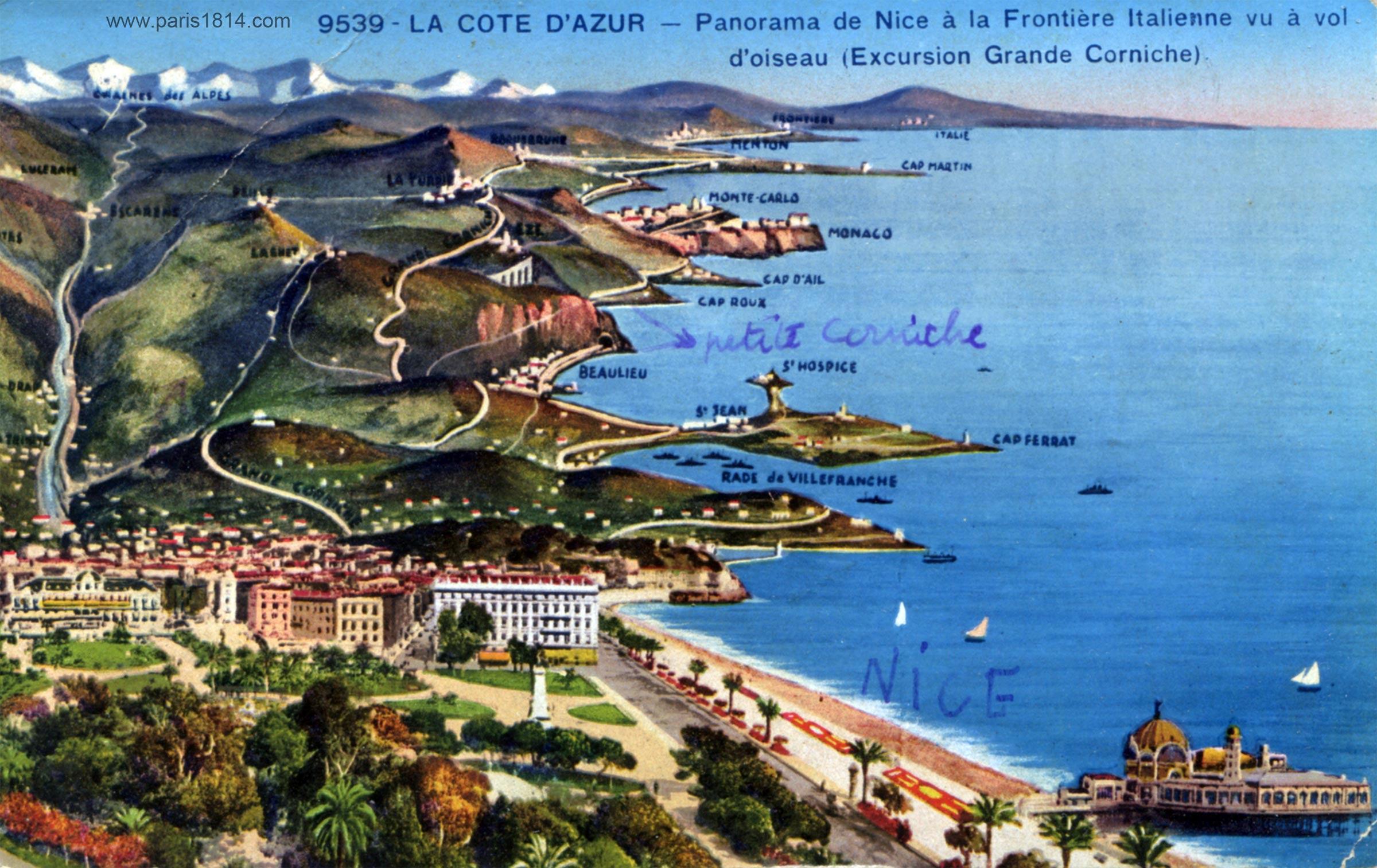 Почтовая карточка с Лазурным берегом