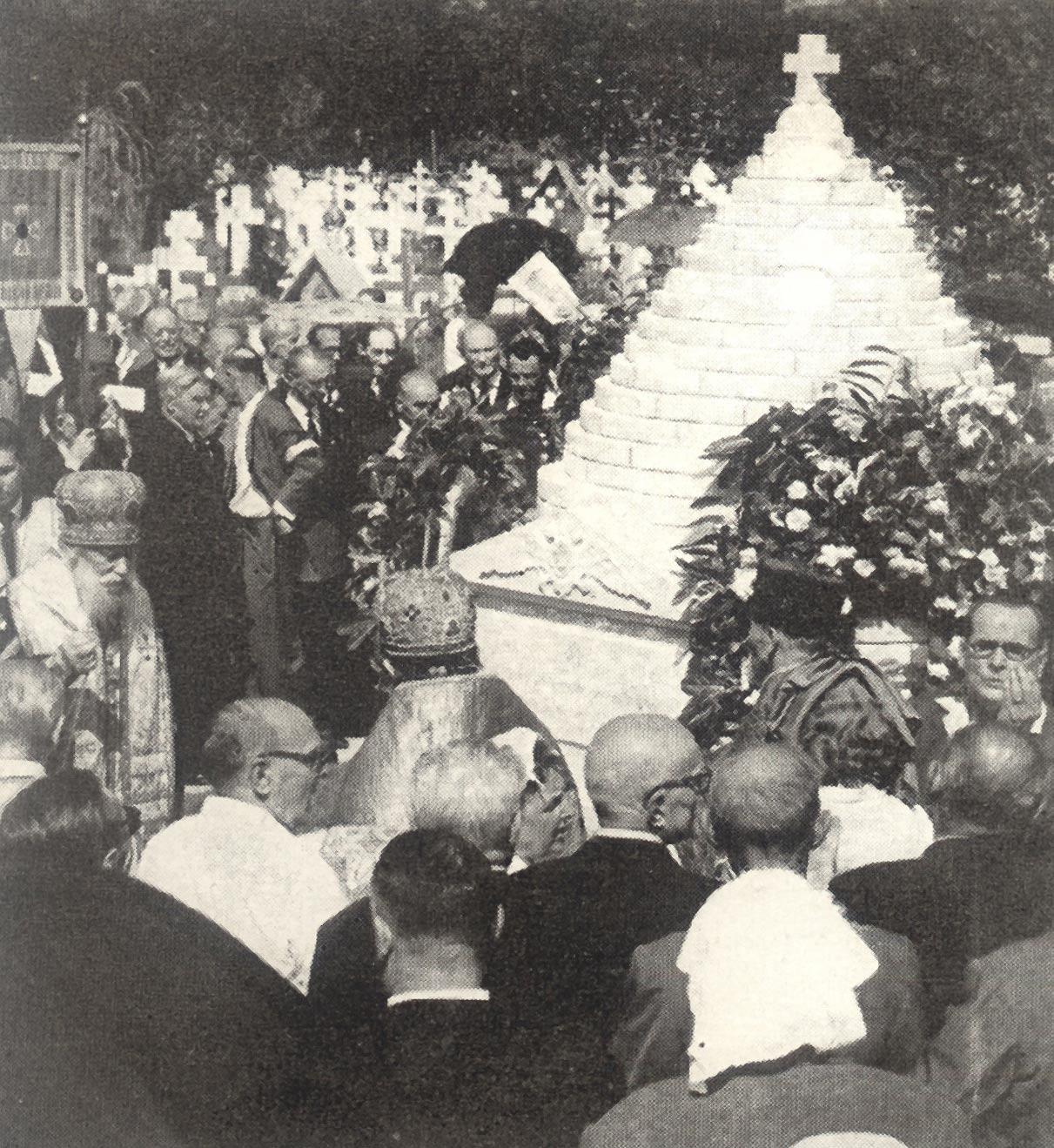 освящение галлиполийского памятника в Сент-Женевьев-де-Буа