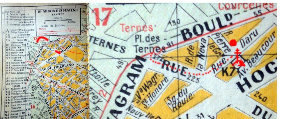 русские рестораны в Париже карта