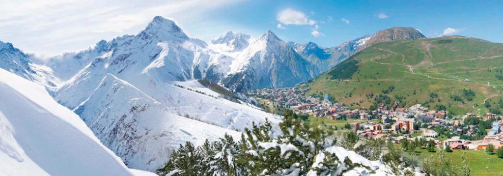 Французские горнолыжные курорты зимой и летом