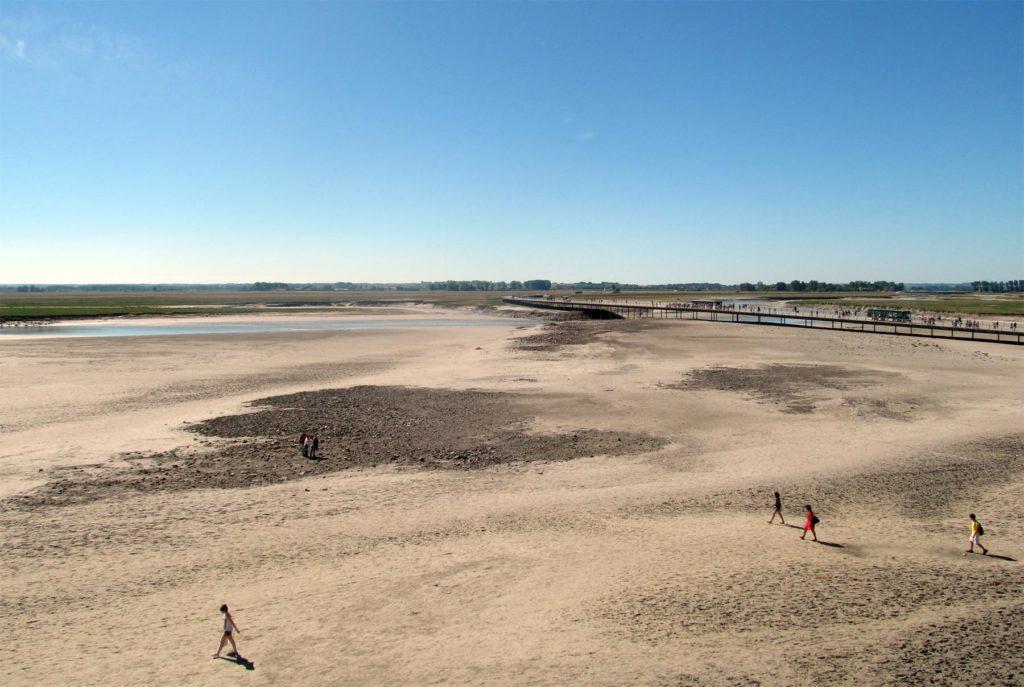 Песчаные пляжи Мон Сен Мишель