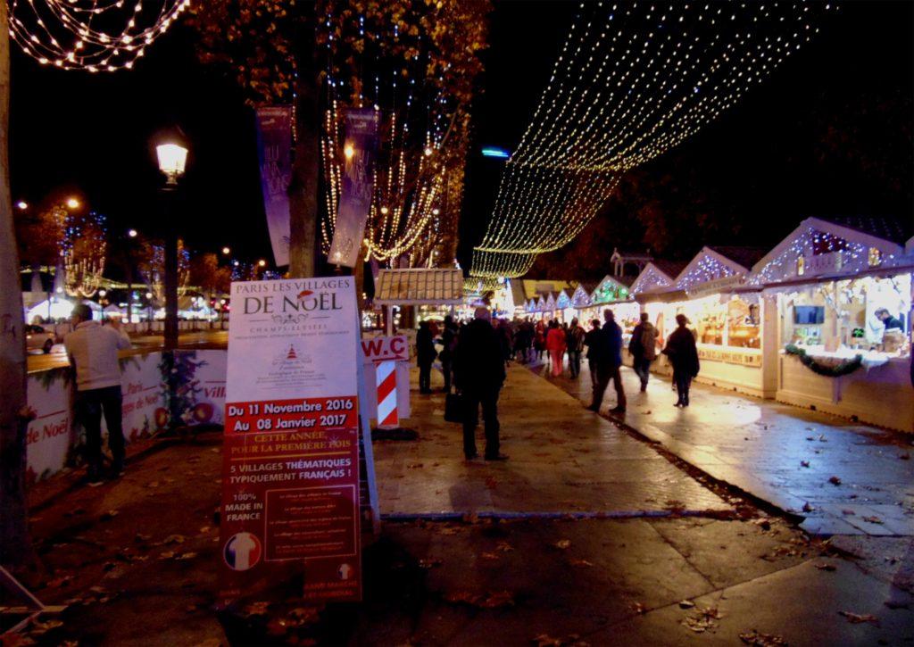 Елисейские поля в Париже на Новый год