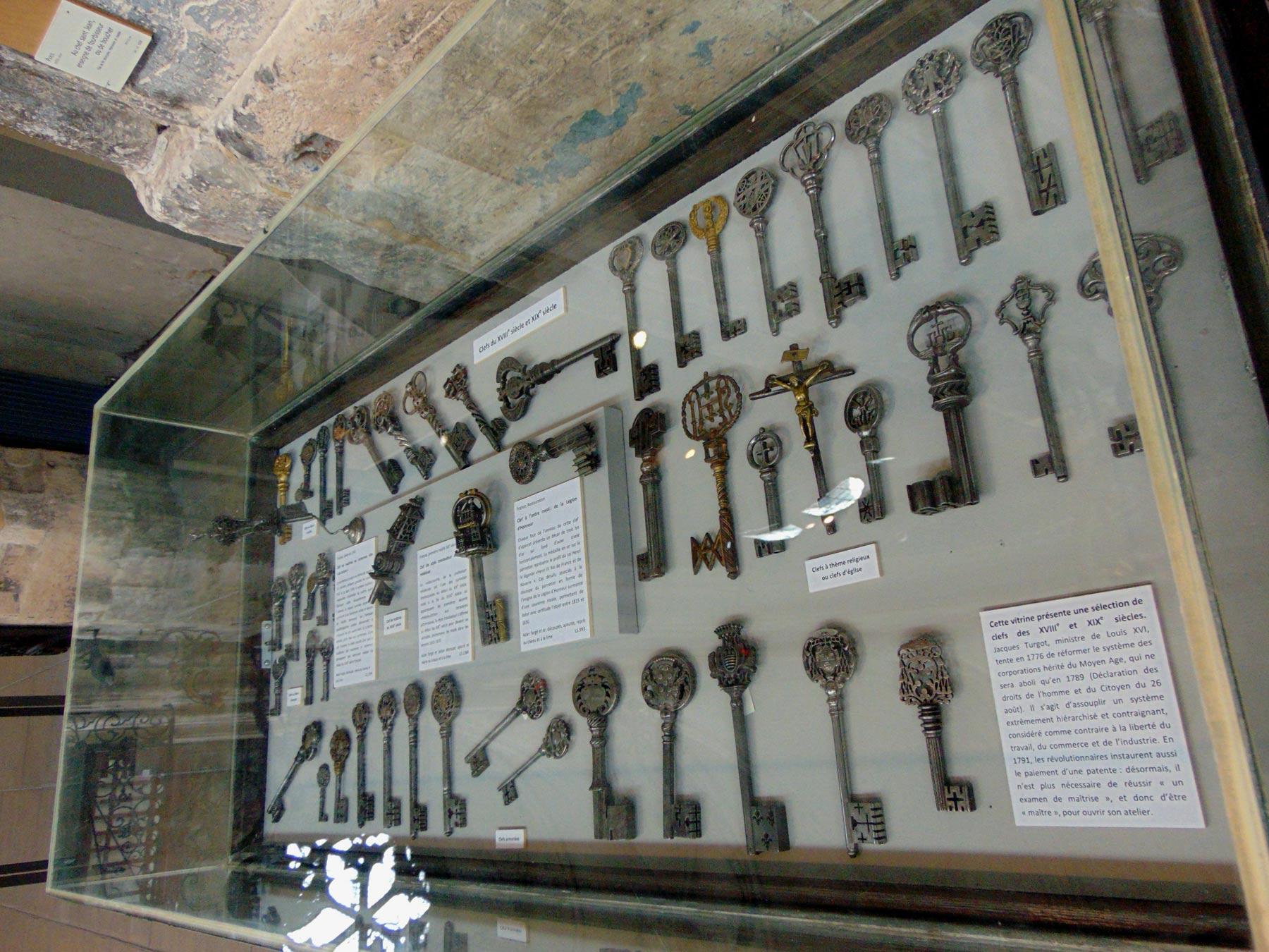 коллекция необычных ключей музея Руана в Нормандии
