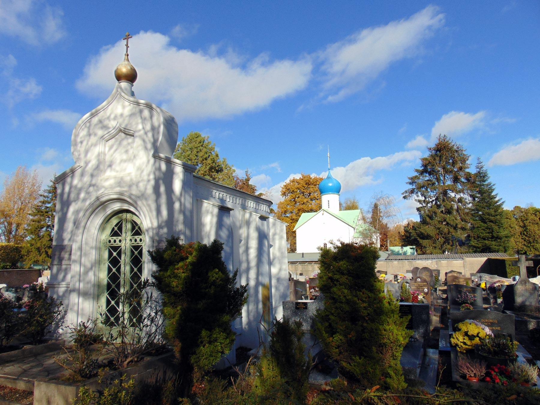 русская церковь русское кладбище Сент-Женевьев-де-Буа под Парижем