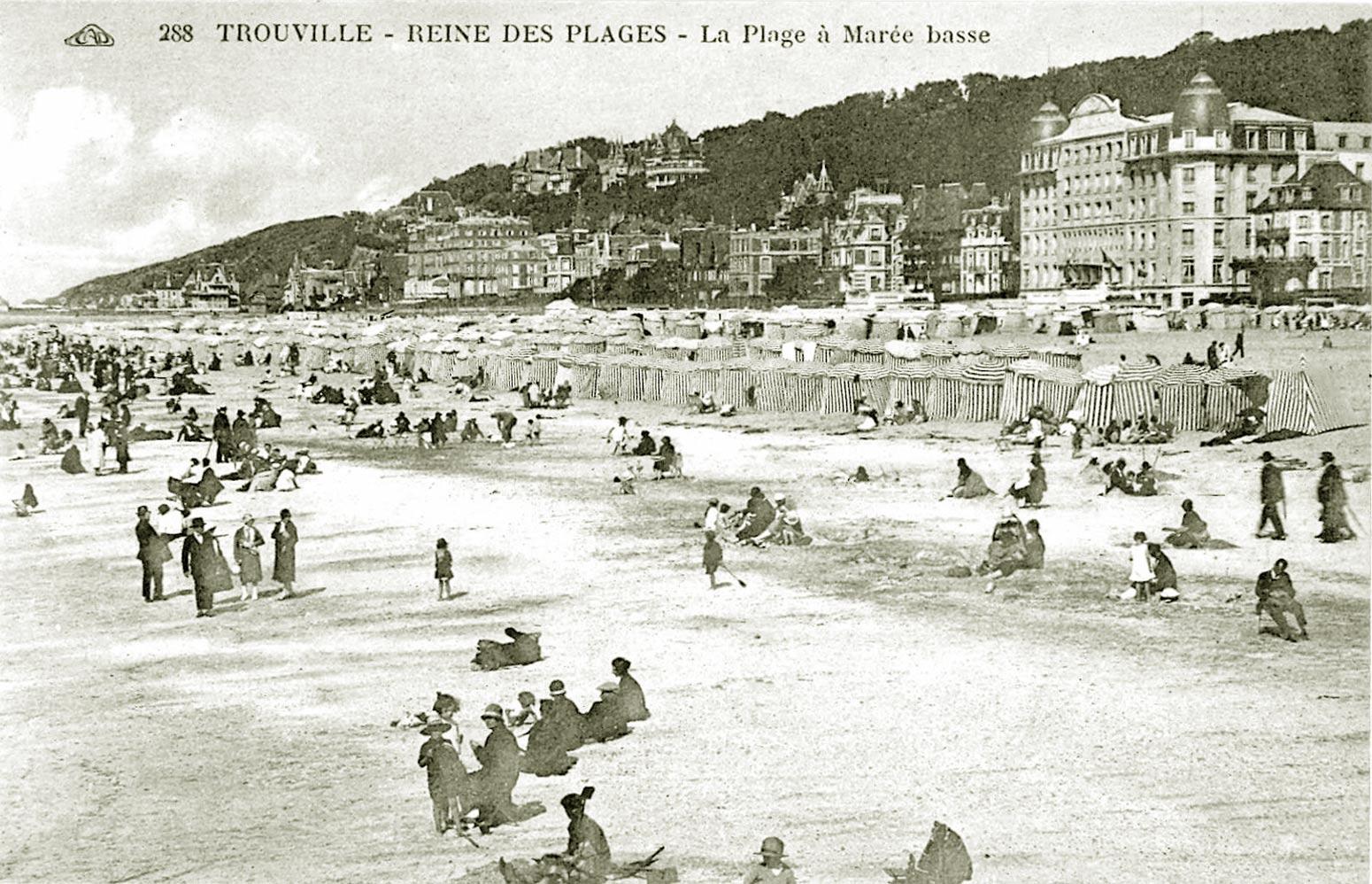 Нормандия, Трувиль, пляжи