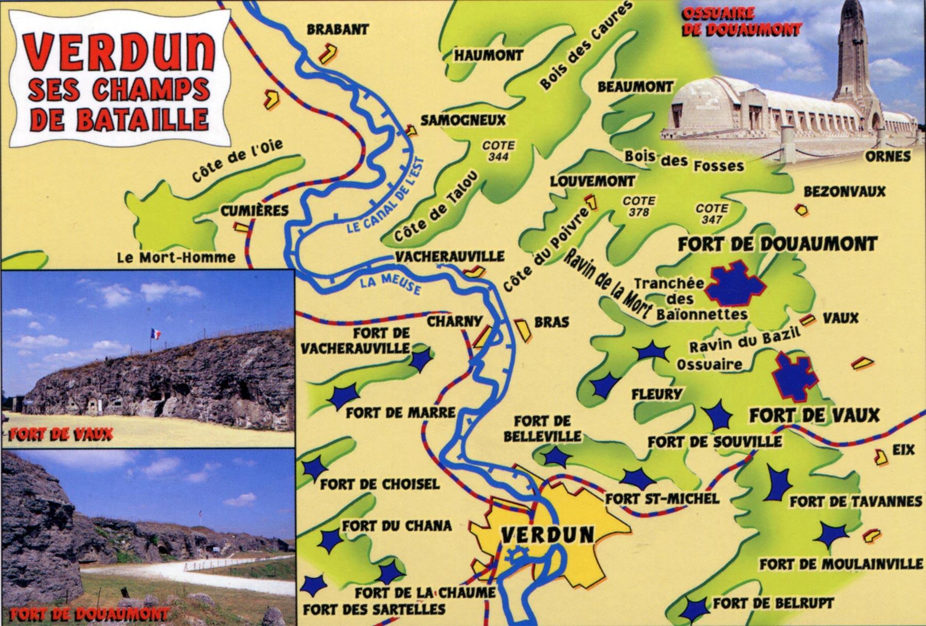 поля сражений Первой Мировой Верден