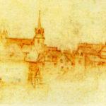 Замок Амбуаз Леонардо да Винчи рисунок
