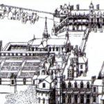Гравюра замок Амбуаз