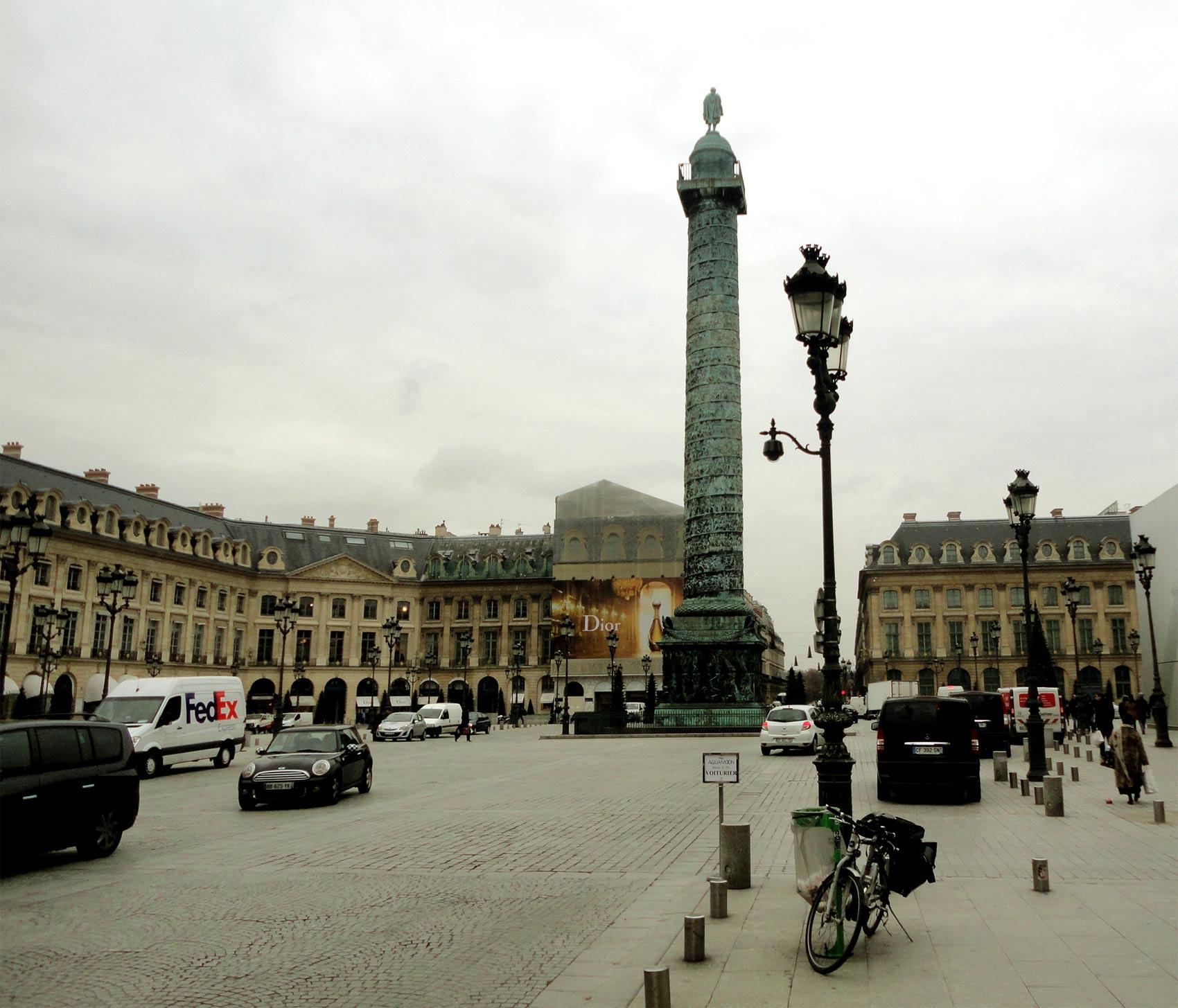 экскурсия по Вандомской площади в Париже