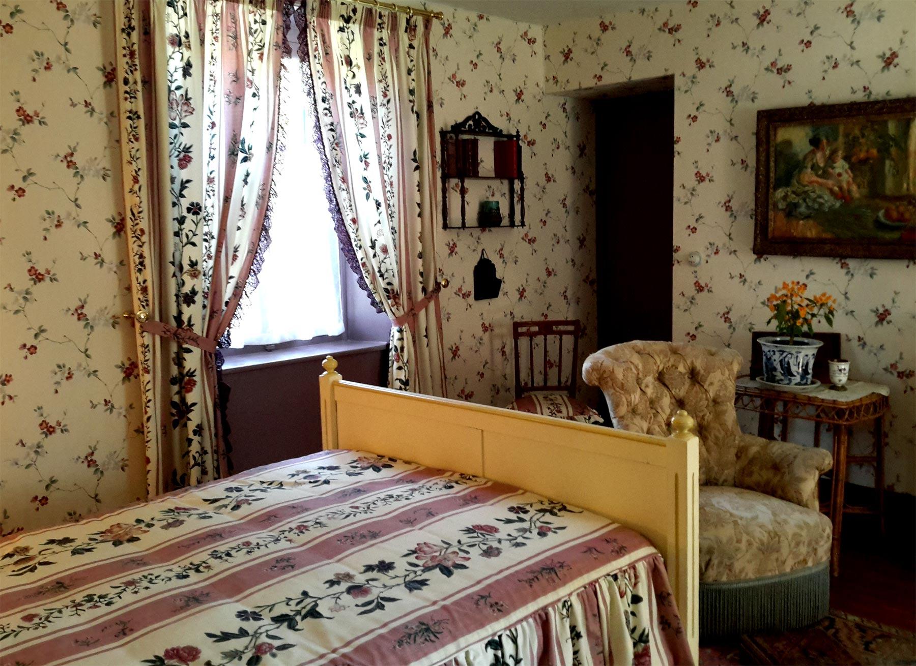 спальня дома Клода Моне