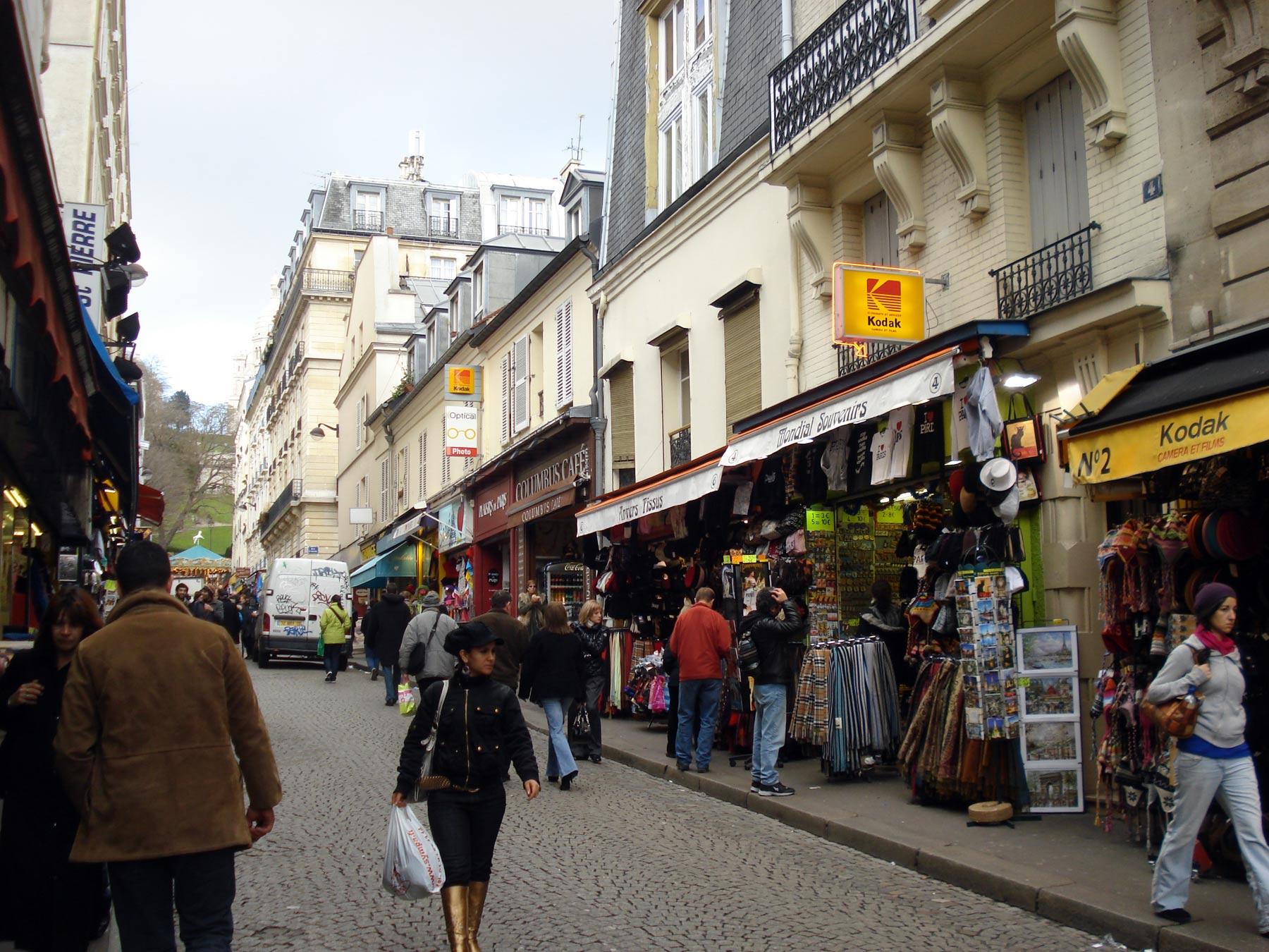 Монмартр, экскурсия по магазинам