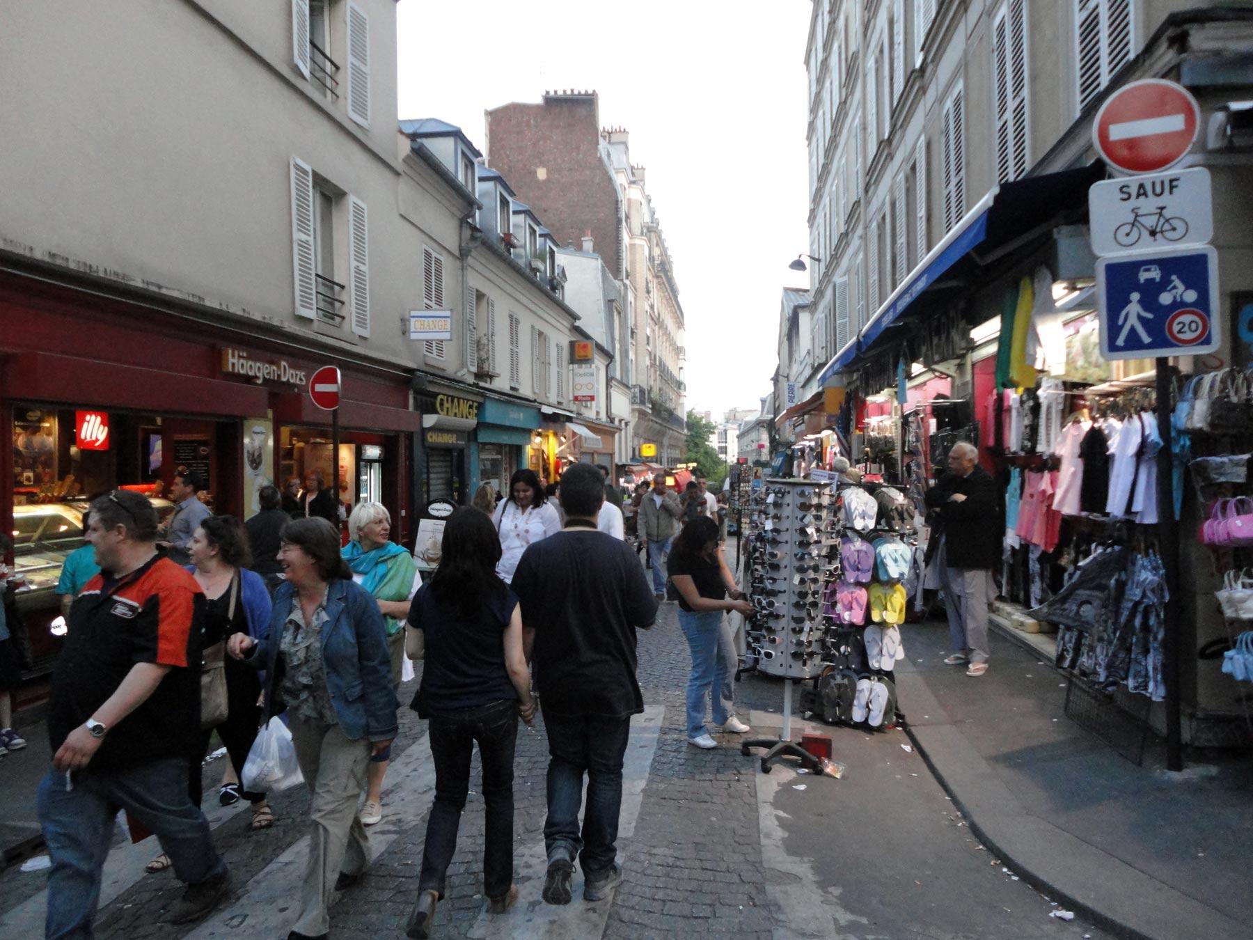 улица на холм Монмартра