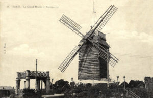 Монмартр мельница Мулен де ла Галетт