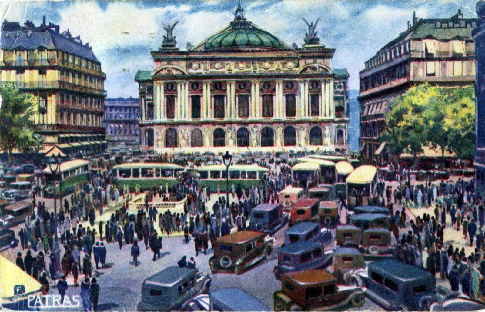 Старые фото в Париже и Опера Гарнье